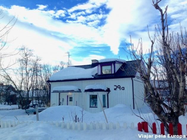 As casinhas fofas de Kiruna.