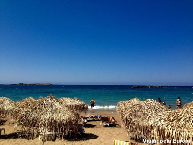 Praia Christina em Chania,na Ilha de Creta.