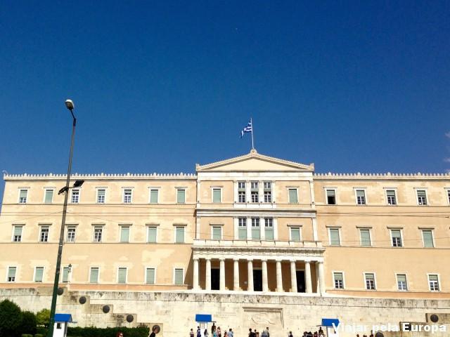Parlamento grego em Atenas.