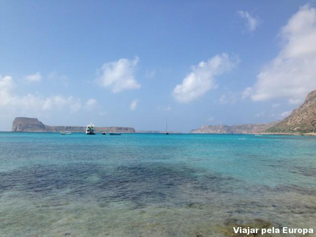 A incrível Lagos de Balos na Ilha de Creta. Um dos lugares mais lindos da Grécia.
