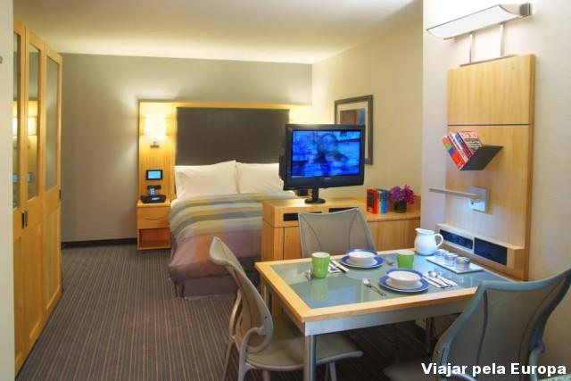 Suite do One World Center Hotel de Nova York - Espaço ideal para famílias! :D Foto: Divulgação One World Center Hotel