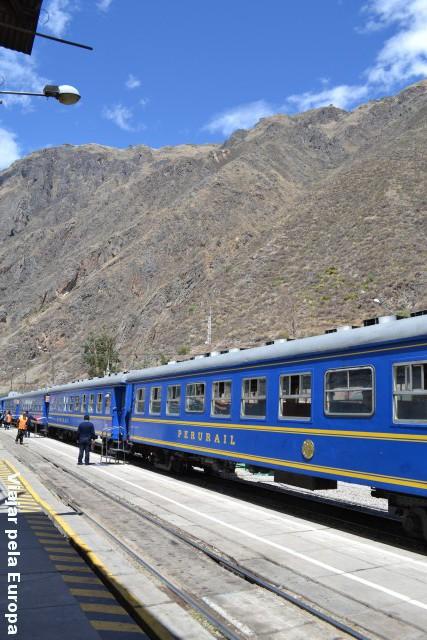 Estação de trem em Ollantaytambo.