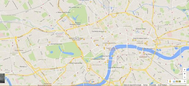 mapa londres