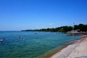 Strandbaden i Friedrichshafen & zeppelinare