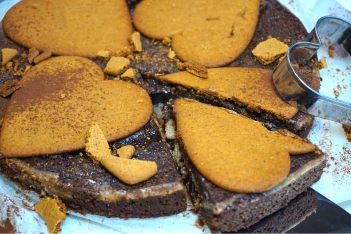 Pepparkakskladdkaka med cheesecakefyllning