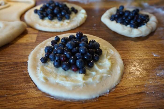 Blåbärsbullar med vanilj