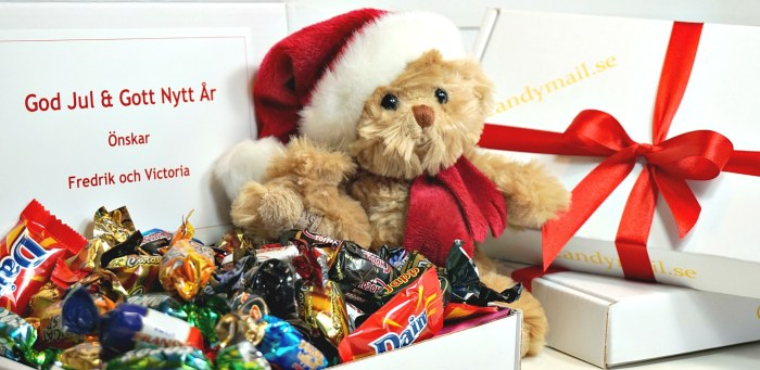 Skicka ett candymail till jul