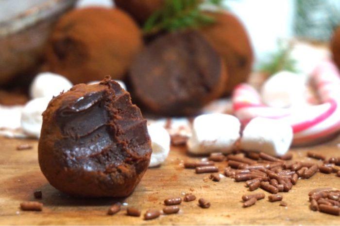 Kola och chokladtryfflar