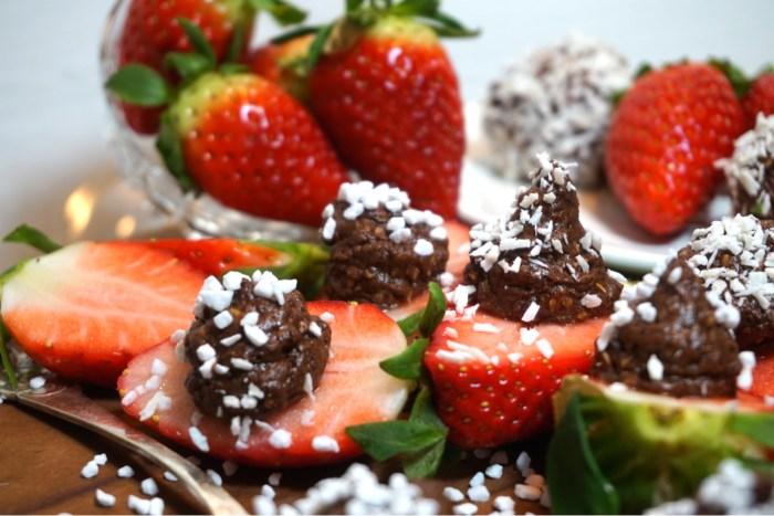 Chokladbolls jordgubbar