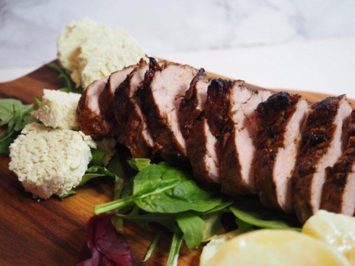 Marinerad helstekt fläskfilé med italienskt kryddsmör