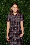 Emilia Clarke dress tweed Chanel