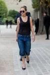 Jennifer Lawrence in blue jeans wide