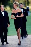 Princess Diana In Black Dress From Christian Stambolian 1996
