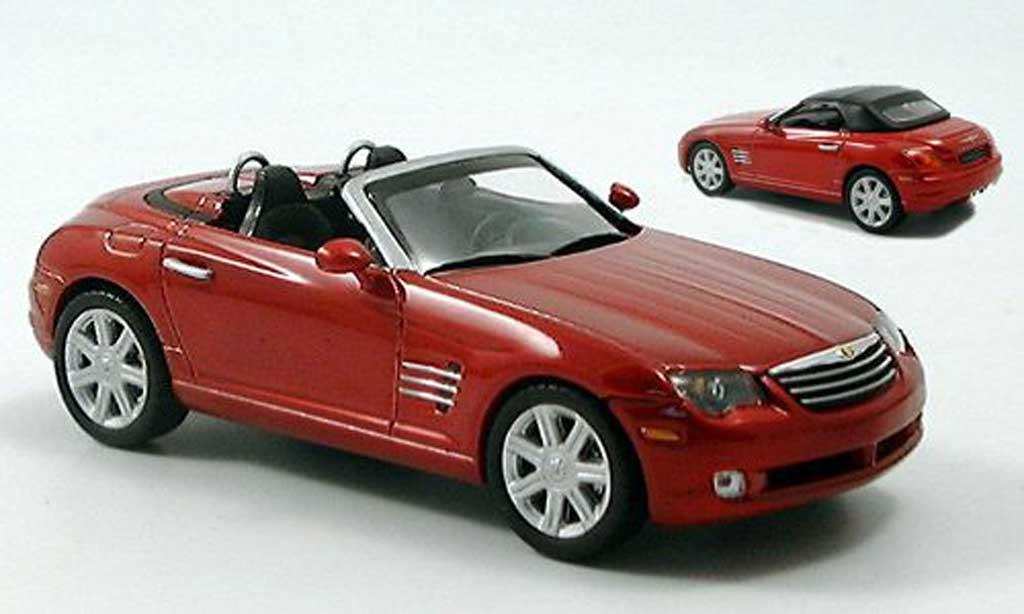 Chrysler Crossfire Roadster Red Norev Diecast Model Car 1