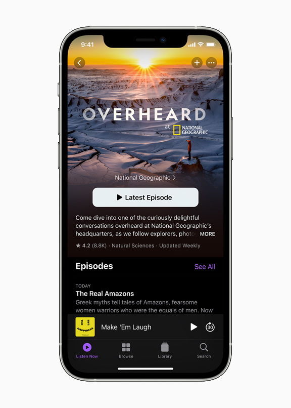Improvements to Apple Podcasts in the new OS