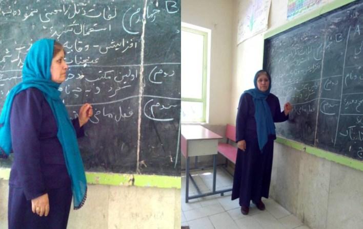 أمينة باراكزاي، هي معلمة الجغرافيا والأدب في مدرسة للبنات بمدينة هرات