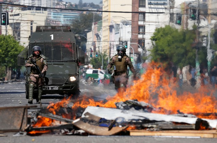 15 Killed in Violent Protests, Clashes in Chile
