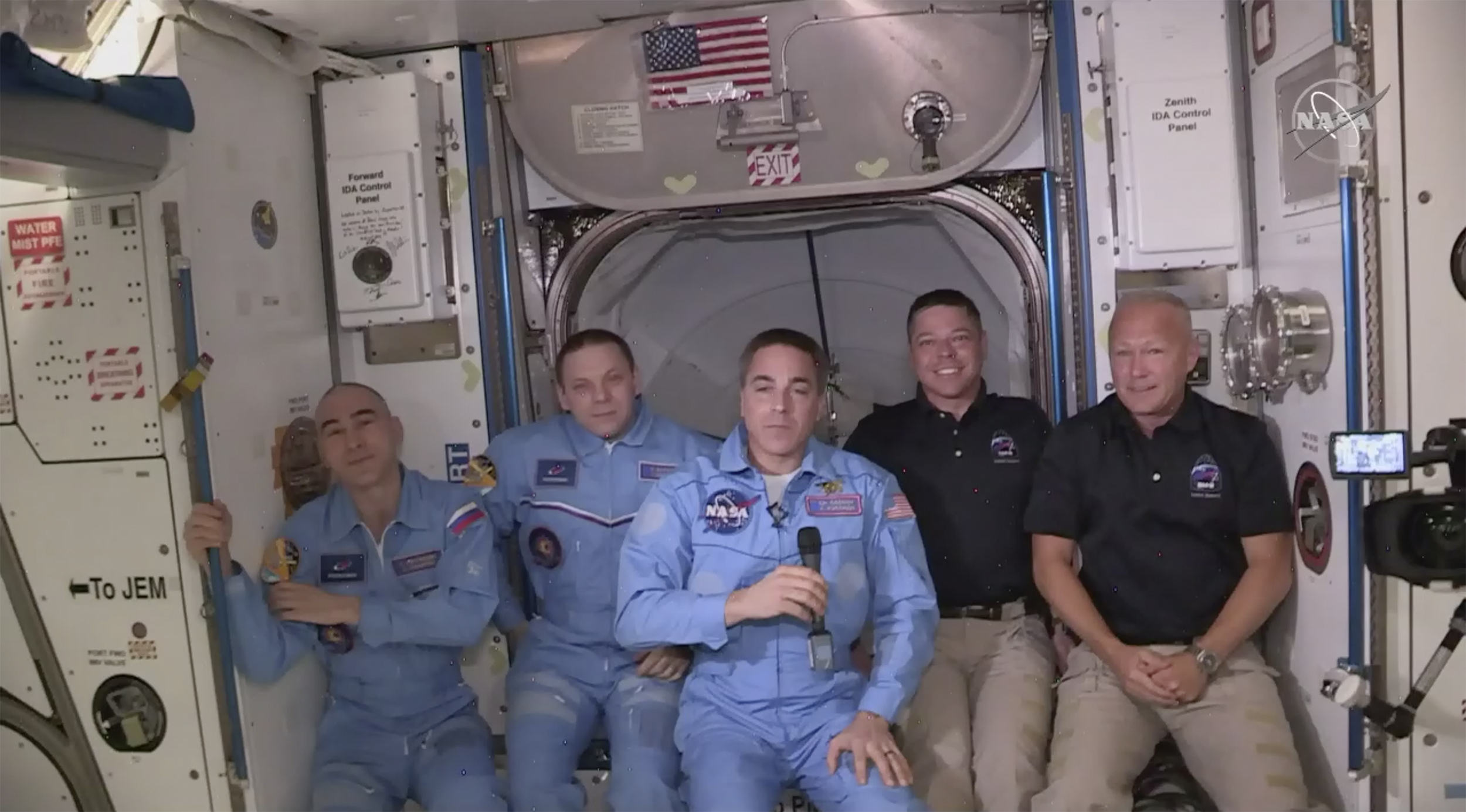 SpaceX Astronauts Welcomed Aboard International Space Station