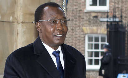 FILE - The President of Chad Idriss Deby.