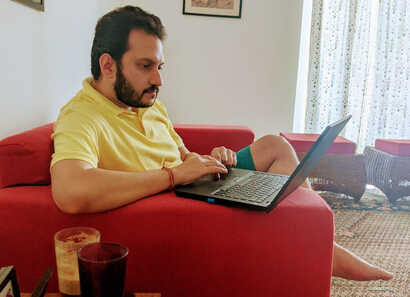 While it is possible to be productive even doing work from home, Abhimanyu Mukherji says walking up and talking directly to his team has a different impact.