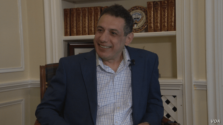 Lebanese internet freedom activist and U.S. permanent resident Nizar Zakka speaks to VOA Persian at his home in Washington, June 24, 2019. Iran released him from four years in prison on June 11.