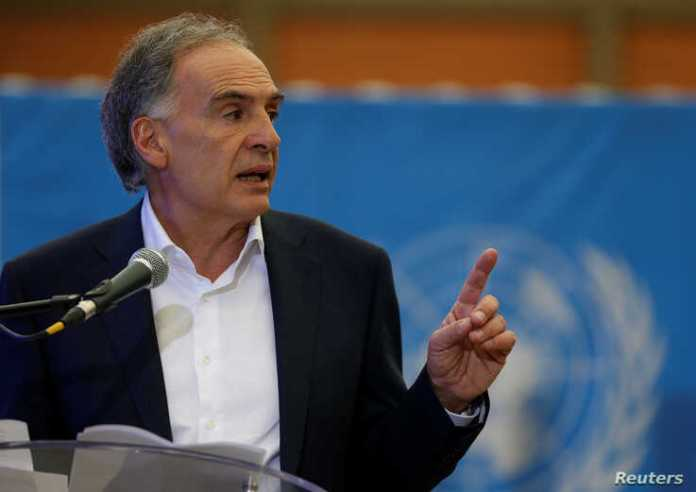 Jean Arnault, the U.N. Secretary-Generals Special Representative for Colombia and Head of the U.N. Mission to Colombia, speaks