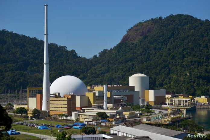 General view of Angra Nuclear Power Plant complex during a media tour in Angra dos Reis, Brazil, Aug. 1, 2019.