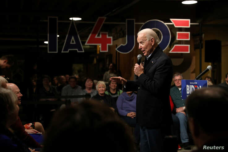 FILE PHOTO: Democratic U.S. presidential candidate and former U.S. Vice President Joe Biden speaks during a town hall in