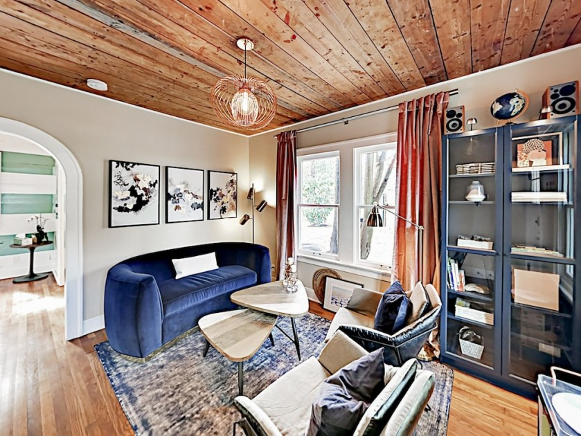 Living Area - Welcome to Travis Heights! This bungalow is professionally managed by TurnKey Vacation Rentals.