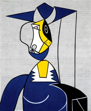 "Roy Lichtenstein, <span class=""wac_title"">Femme au Chapeau</span>"