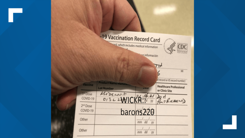 People buying fake COVID-19 vaccination cards online | wcnc.com
