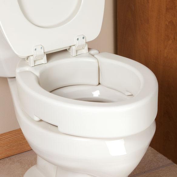 Hinged Toilet Seat Riser Elevated Toilet Seat Walter Drake
