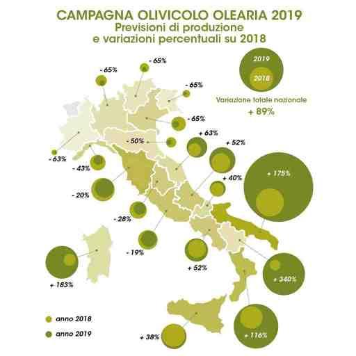 produzione olio oliva 2019