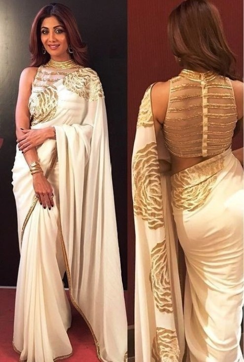 Image result for The Sheer Back Blouse Design