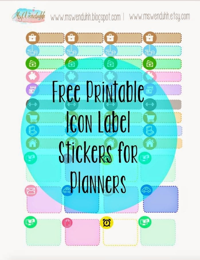 Free Printable Stickers Icon Labels For Planning Wendaful Planning