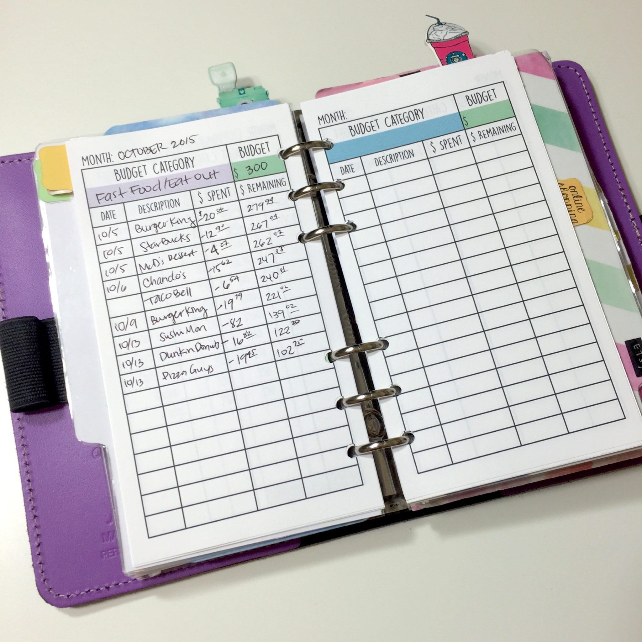 Personal Amp Business Financial Filofax Sections Free Printables