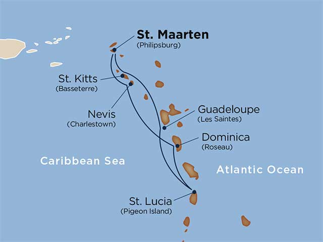 Wind Surf Classic Caribbean itinerary