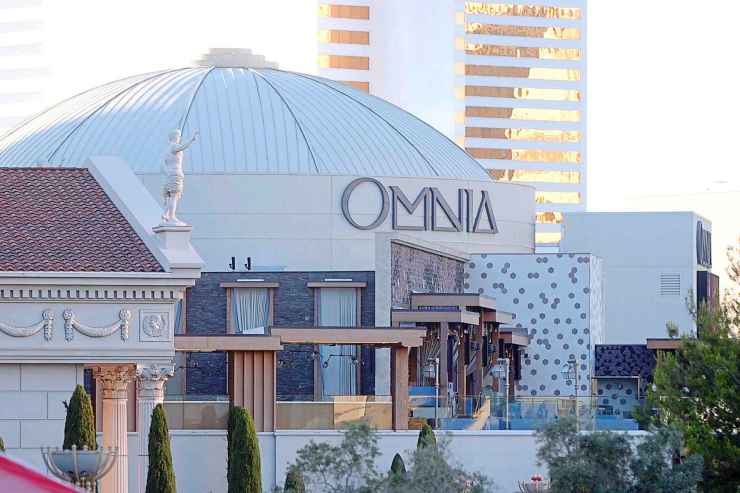 The Omnia nightclub in Las Vegas, where several Jets players saw Celine Dion make a surprise appearance during a benefit concert.