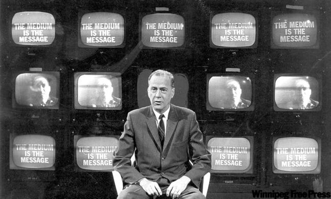 Marshall McLuhan was a leading 20th-century thinker on the impact of communications media on society.