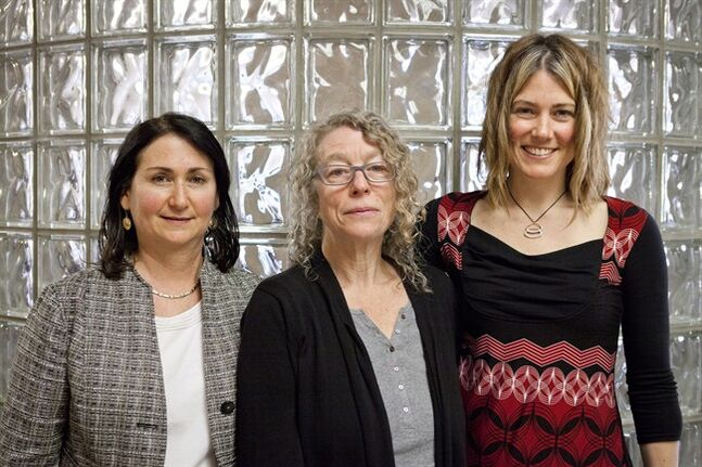 Staff at the Oak Tree Clinic in the BC Women's Hospital in Vancouver from left to right, Dr. Neora Pick, Margarite Sanchez, and Dr. Mary Kestler, Friday February 19, 2013. The lack of woman-centered, holistic and culturally-competent treatment is a