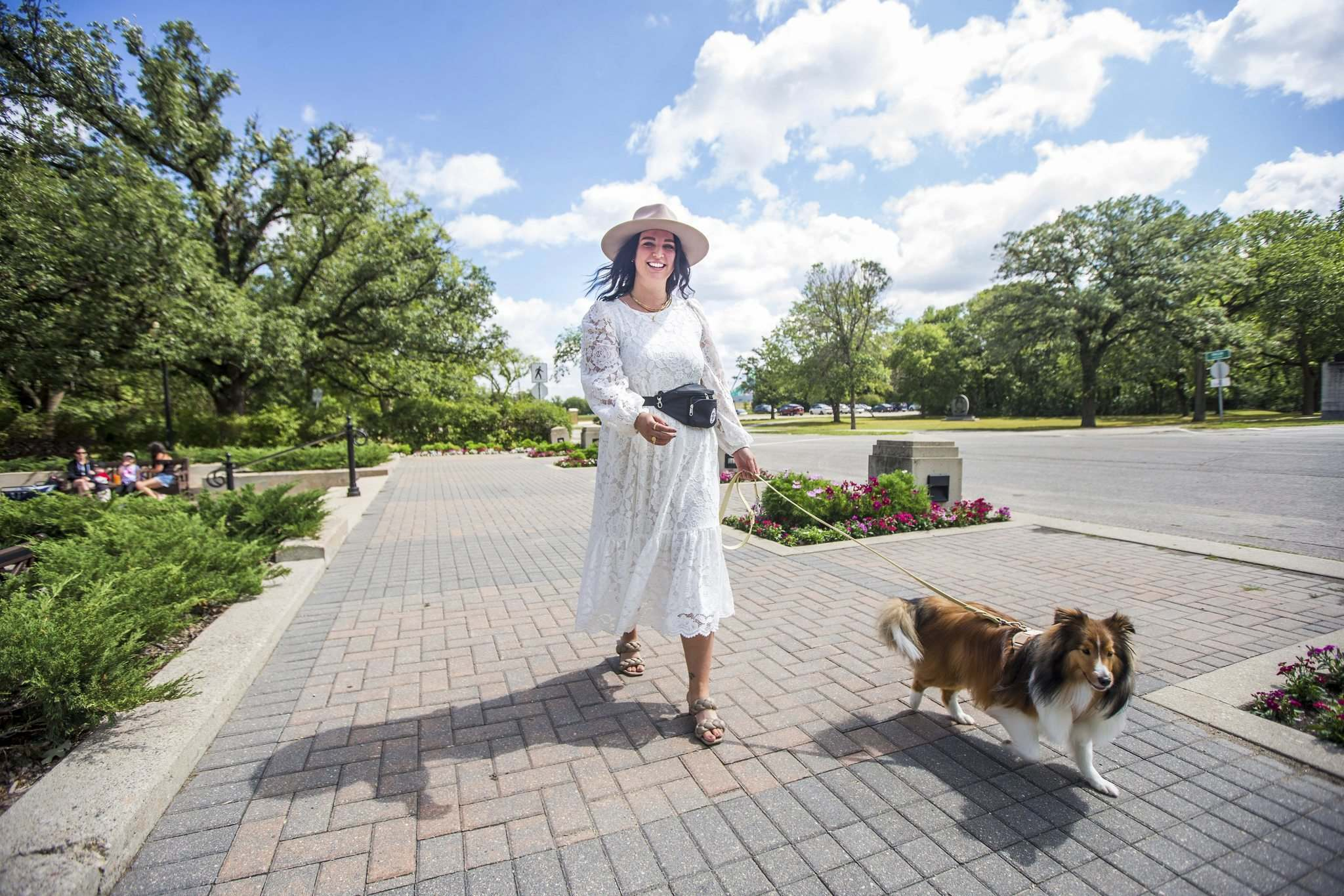 MIKAELA MACKENZIE / WINNIPEG FREE PRESS</p><p>Jamie Barber (with her dog Indy) recently started Bark, a doggie wedding-date service, where Barber (or one of her staffers) will take care of a couples' pooch for the event. </p>