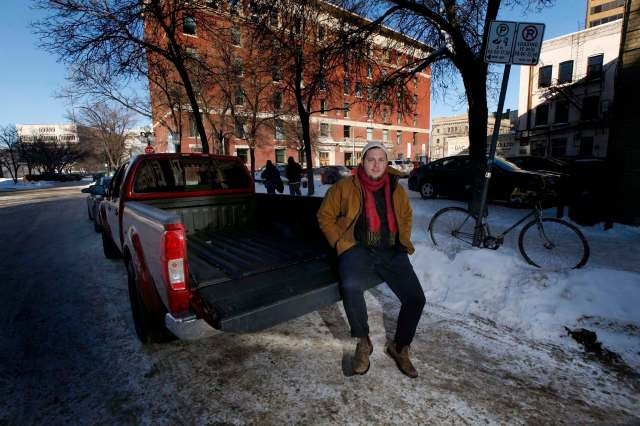 Philip Mikulec, operations manager of Peg City Co-op, the city's only car-sharing program, which has 33 vehicles and 1,200 members. (Phil Hossack / Winnipeg Free Press)