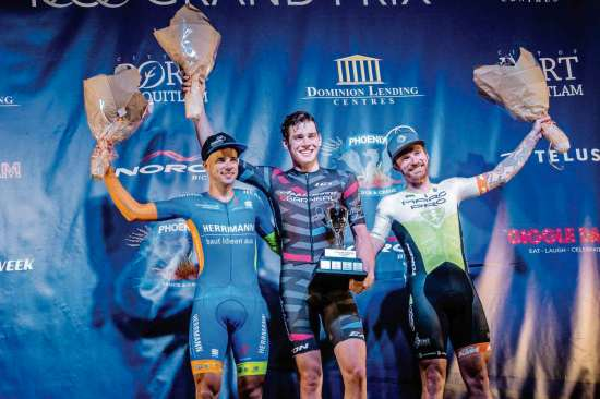 South St. Vital resident Mitch Ketler (centre) had a dream come true July 13 when he won the PoCo Grand Prix in Port Coquitlam, B.C.
