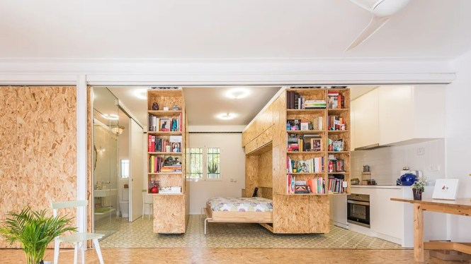 Moving Walls Transform A Tiny Apartment Into 5 Room Home
