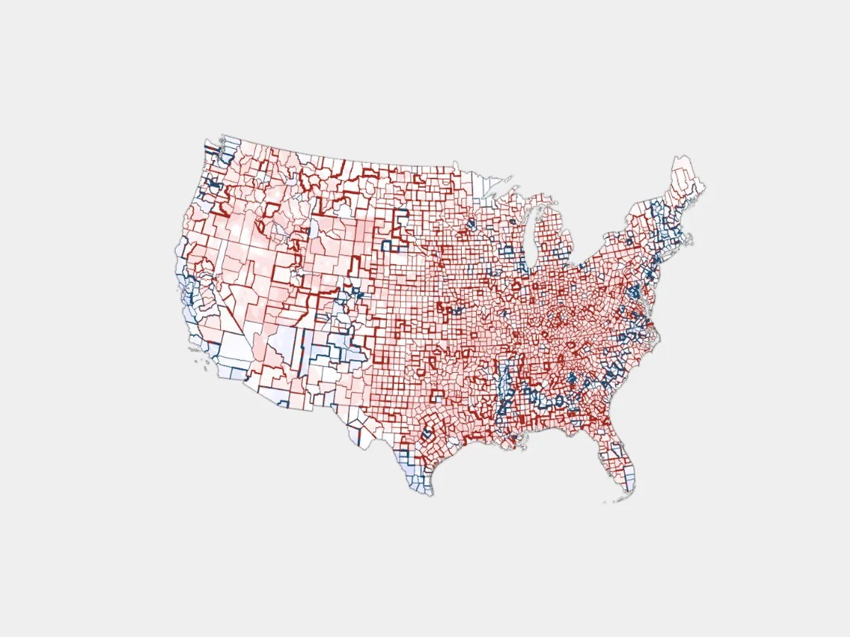 Different Us Election Maps Tell Different Versions Of The