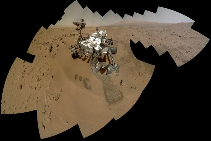 Curiosità rover autoritratto