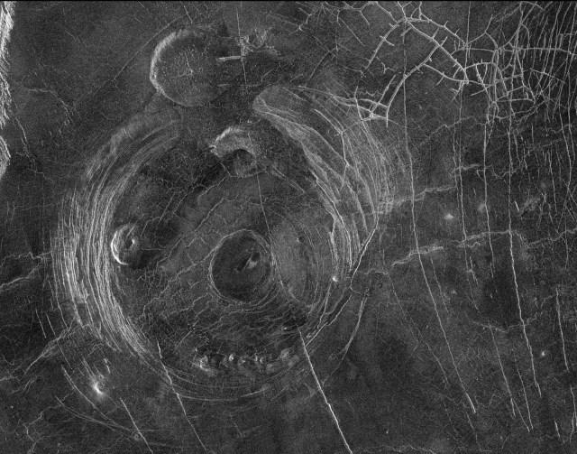 Venus orbit and surface corona