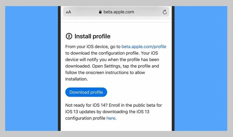 p Puoi scaricare e installare un profilo beta direttamente dal tuo iPhone.p