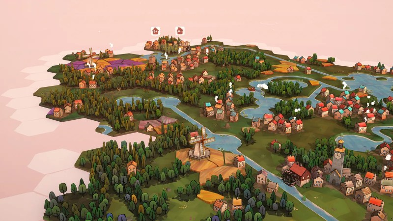 Schermata di Dorfromantik