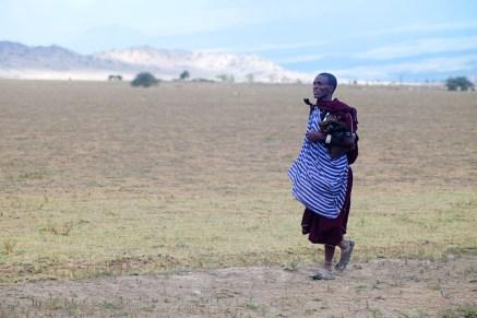 Massaj på promenad, Tanzania